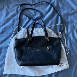 Black Coach Pebble Leather Bag